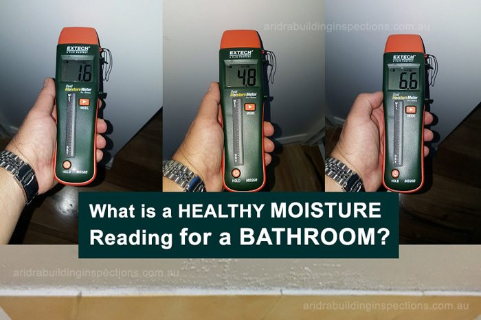 What is a Healthy Moisture reading in Bathroom?