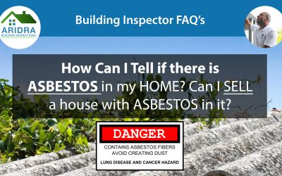 How can I tell if my house has asbestos and can I sell my house if it has asbestos in it?